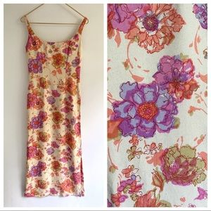 Vtg In Full Bloom Pencil Dress XS